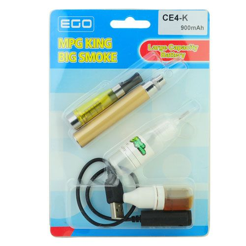 סיגריה אלקטרונית צהובה זהב EGO-CE4K