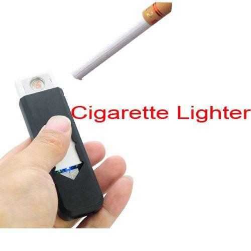 מצית נטעת USB להדלקת סיגריה בכל מזג אויר - שחור.